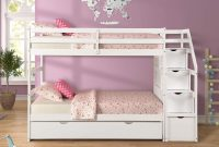 Twin Over Bunk Bed Wood Twin Trundle Bunk Bed with Safety Rails, Storage and Drawers for Kids (White)