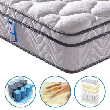 Vesgantti 10.2 Inch Multilayer Hybrid Twin Mattress - Multiple Sizes & Styles Available, Ergonomic Design with Breathable Foam and Pocket Spring Medium Plush Feel