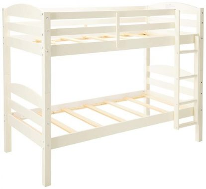 WE Furniture Bed Bunk, Twin, White