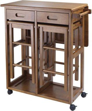 Winsome Suzanne Kitchen, Square, Teak