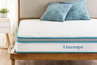 Linenspa 8 Inch Memory Foam and Innerspring Hybrid Mattress - Medium-Firm Feel - Twin