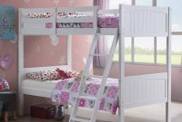 Costzon Wooden Twin Over Twin Bunk Beds Convertible 2 Individual Twin Beds for Kids Children, Solid Rubberwood Bunk Bed with Ladder and Safety Rail (White)