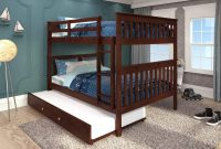 DONCO KIDS Mission Bunk Bed Dark Cappuccino Full Full W Twin Trundle Bed