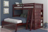 Discovery World Furniture Twin Over Full Loft Bed in Merlot Finish