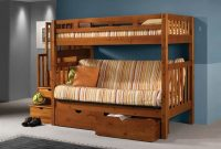Donco Kids Tall Twin Over Futon Mission Stairway Bunk Bed