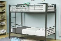 Mecor Metal Bunk Bed Twin Over Twin - Easy Assembly - with Removable Ladder - for Children Teens Adults,Black