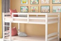 Twin Bunk Beds, Solid Wood Twin Over Twin Bunk Bed Frame with Built-in Ladders for Kids Toddlers (White)