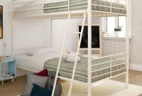Twin Over Twin Convertible Bunk Bed in White