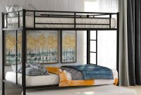 Twin Over Twin Metal Bunk Bed with Trundle, Rockjame Space Saving Design Sleeping Bedroom Bed Frame with 2 Ladders and Safety Rail for Boys, Girls, Kids, Young Teens and Adults (Black)