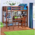 Your Zone Twin Wood Loft Style Bunk Bed Walnut (Walnut) (Twin, Walnut)