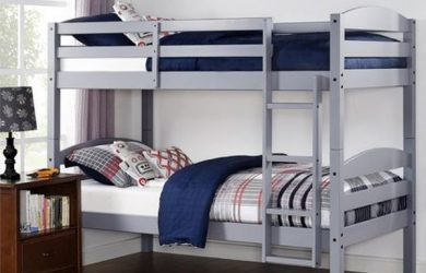 Better Homes and Gardens Converts to 2 stand-alone Twin Over Twin Wood Bunk Bed (Bed Only) in Gray