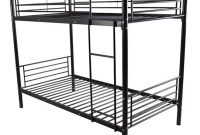 Cozywind Iron Bed Bunk Bed for Kids Twin Size Black Bunk Bed Frame Black Upgraded Metal Frame Bunk with Ladder Black