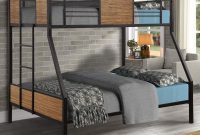 Danxee Twin-Over-Full Bunk Modern Style Bed Easy Assembly Quick Lock Classic Metal Bunk Bed with Built-in Ladder for Bedroom, Dorm,Boys, Girls, Adults (Twin Over Full)