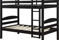 Mainstays Twin Over Twin Wood Bunk Bed (Twin, Black)