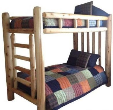 Michigan Rustics Rustic Log Bunk Bed #1 Selling Twin, Full, Queen