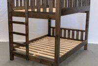 Rustic Farmhouse Bunk Bed - Queen Queen Traditional Bunk Bed Wood Reclaimed Bunk Bed Modern Urban Cottage Bunk Bed