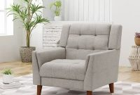 Christopher Knight Home 305538 Evelyn Mid Century Modern Fabric Arm Chair, Beige, Walnut