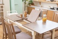 Furgle 5 Piece Furniture Kitchen Set Rectangular Extendable Oak Solid Wood Dining Table with 4 Chairs, Large Dining Set with Separate Extension Leaf 70.8inch Long Table and Upholstered Fabric Seat