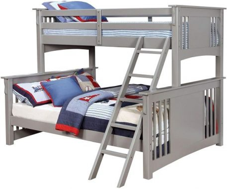 Furniture of America Spring Creek Gray Twin Xl Over Queen Bunk Bed