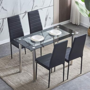 Glass Dining Table Set For An Appealing Dining Room