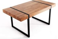 Ivinta Modern Industrial Oversize Dining Table 63x35.4x29.5 Inches Rustic Mid Century Plant Nature Wood Table Top Office Desk for Dining Living Room