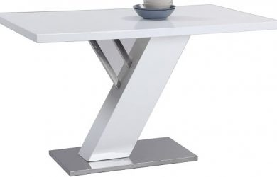 Milan Lillian Gloss White Modern Design Dining Table