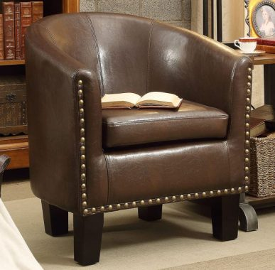 Rosevera Club Chair, Dark Brown