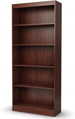 South Shore Axess 5-Shelf Bookcase-Royal Cherry