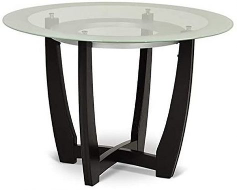 Steve Silver Verano 45inch Round Glass Top Dining Table in Espresso