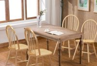 WATERJOY Wood Chairs, Set of 4 Vintage Winds Side Dining Chair, Winsome Wood Windsor Seating Chair