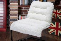 Zenree Living Room Chair Lounge Accent Upholstered Chairs with Sherpa Seat for Bedroom Dorm Teen's Den Indoor