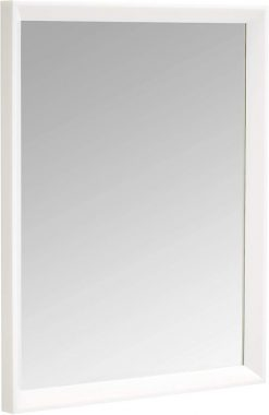 AmazonBasics Rectangular Wall Mirror 16inch x 20inch - Peaked Trim, White