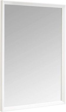 AmazonBasics Rectangular Wall Mirror - 20 x 28, Peaked Trim, White