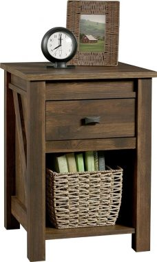 Ameriwood Home Farmington Night Stand, Rustic ,Small, Century Barn Pine