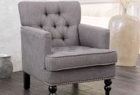 Christopher Knight Home 237357 Tufted Club, Decorative Accent Chair with Studded Details-Grey, Beige