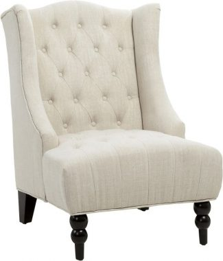 Christopher Knight Home Clarice Accent Chair, Beige, Beige