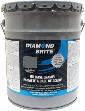 Diamond Brite Paint 31150 5-Gallon Oil Base All Purpose Enamel Paint Battleship Grey