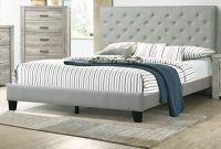 Esofastore Queen Size Bed 1pc Set Gray Color Bedroom Furniture Set Beautiful Tufted HB