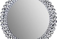 Everly Hart Collection Round Jeweled, 24inch Mirrors Silver