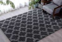 Flover Soft Indoor Large Modern Area Rugs Shaggy Patterned Fluffy Carpets Suitable for Living Room and Bedroom Nursery Rugs Home Decor Rugs 4'x6' Grey Trellis