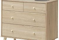 Giantex 4-Drawer Dresser, Free-Standing Chest with Wood Legs, Sliding Rail and Storage Dresser Chest for Bedroom, Living Room, Hallway Storage Cabinet Organizer Wooden Chest (Natural)