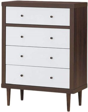 Giantex Drawer Dresser Wooden Chest With Drawers, Sliding Rail and Stable Frame Antique-Style Free-Standing Chest for The Bedroom, Living Room, Hallway Storage Cabinet Organizer