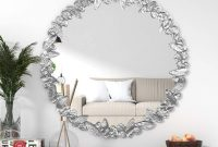 KOHROS Large Antique Wall Mirror Ornate Glass Framed Venetian Decor Mirror Bedroom,Bathroom, Living Room (31.5 Round)