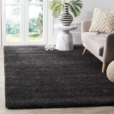 Safavieh Milan Shag Collection SG180-8484 Dark Grey Area Rug (3' x 5')