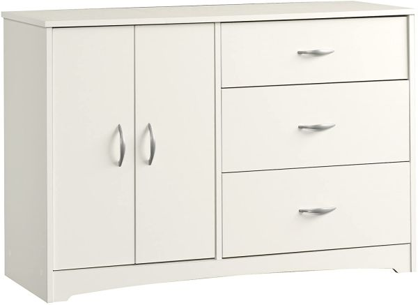 Sauder Beginnings Dresser, Soft White finish