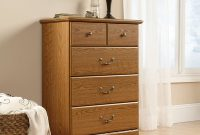 Sauder Orchard Hills 4-Drawer Chest, Carolina Oak finish