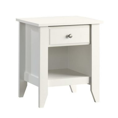 Sauder Shoal Creek Night Stand, Soft White finish