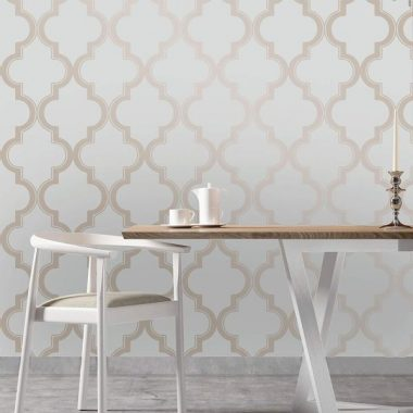 Tempaper Bronze Gray Marrakesh Designer Removable Peel and Stick Wallpaper