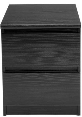 Tvilum Scottsdale 2 Drawer Nightstand, Black Wood Grain