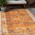 Unique Loom Imperial Collection Modern Traditional Vintage Distressed Terracotta Area Rug (2' 0 x 3' 0)